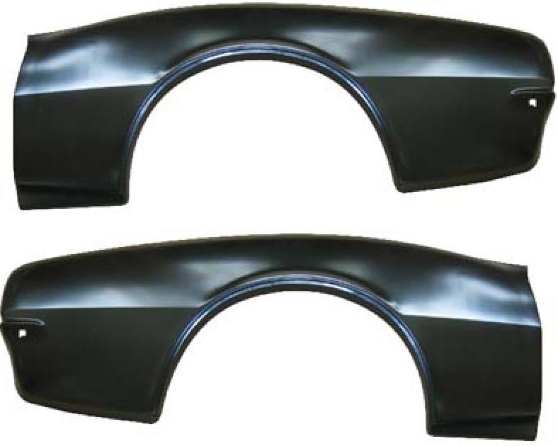 67-68 Camaro Rear Quarter Panel Skins Pair LH + RH