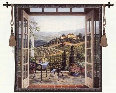 Italian Villa Tapestry - TUSCAN COUNTRYSIDE ITALIAN VILLA WINERY TUSCANY EUROPEAN TAPESTRY 53