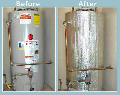 "Water Heater Blanket Insulation, ""NON FIBERGLASS"", Fits up to 80 Gallons Tank"