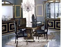 LUXURIOUS ROSSELLA ITALIAN EXTENDABLE DINING TABLE WITH CHAIRS