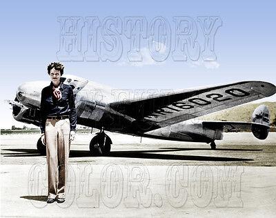 Amelia Earhart pilot airplane aviation color photo -GPN-2002-000211 ()