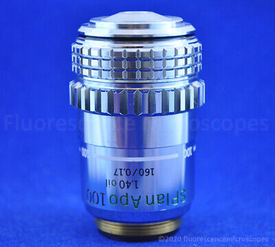 Olympus Splan Apo 100x 1.40 Oil Iris Diaphragm 160mm 0.17 Microscope Objective