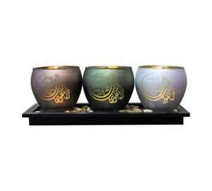 3 Quls Islamic Candle Holder Decorative LED Home Ornament, Gift, islam Available