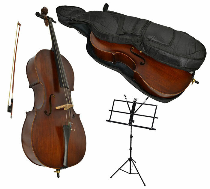 Sotendo 1/2 Size Student Cello Set with Music Stand