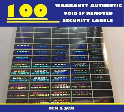 100 Hologram Warranty Void Authentic Void Security Labels Stickers Seals