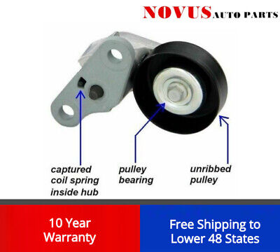 NEW A/C DRIVE BELT TENSIONER w/PULLEY FOR GM CHEVY GMC H2 12580196 38159 419-109 A/c Belt Tensioner Pulley