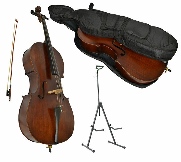 Sotendo 1/2 Size Student Cello with Stand & Soft Case