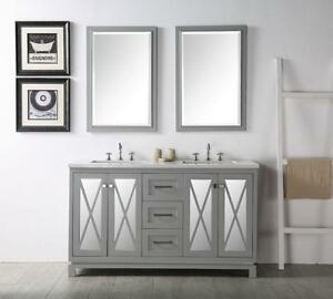 60 In. Bathroom Vanity Set without Mirror