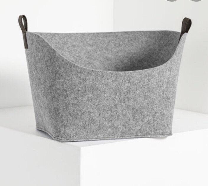 Thirsty One Felt Display Bin In Brushed Whisper Grey NWT AH61