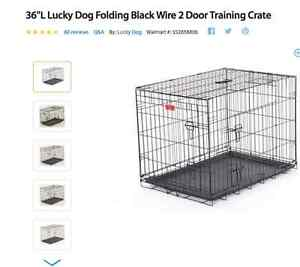 "Getting a Puppy for Christmas? 36"" metal dog crate $70"