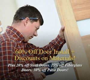 Sale 60% Off - Absolutely Free Consultation DOORS BY INSTALLER