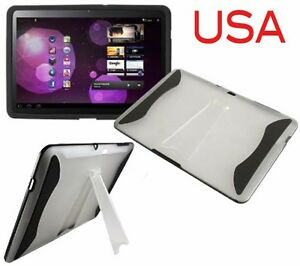 Case-for-Galaxy-Samsung-Tab-10-1-10-Tablet-Black-Cover-hard-w-STAND-TPU-P7510