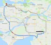 Cloverdale to Downtown Vancouver 8am; leaves DT 4:45pm