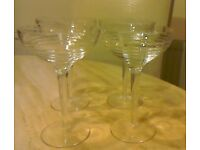 Debenhams set of 4 cocktail glasses