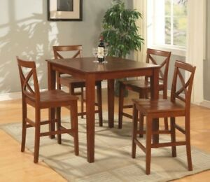 Counter Height Dining Room Table With 4 Chairs