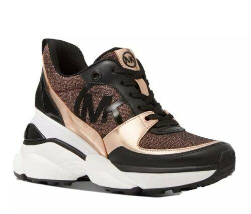 mk women s mickey trainer wedge sneakers