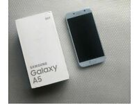 SAMSUNG GALAXY A5 BLUE 32GB (UNLOCKED) 2017 BOXED EXCELLENT CONDITION