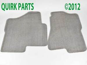 2004-2006-Suburban-Tahoe-Yukon-XL-Front-Carpet-Floor-Mats-Medium-Dark-Pewter-OEM