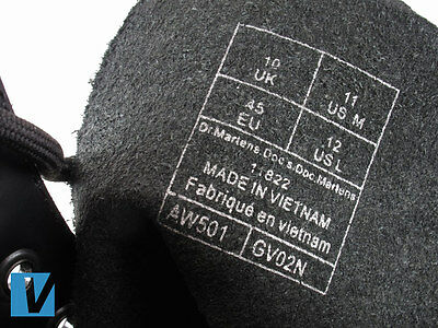 259e67d7843 Dr Martens shoes detail the size and product code on the inside upper of  the shoes. Check that these details match those found on the shoe box label.