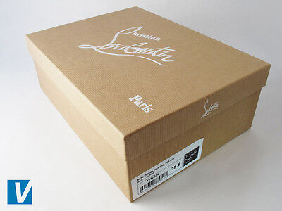 f5cc2355dd87 Christian Louboutin shoe boxes feature a white label on the one end  detailing style