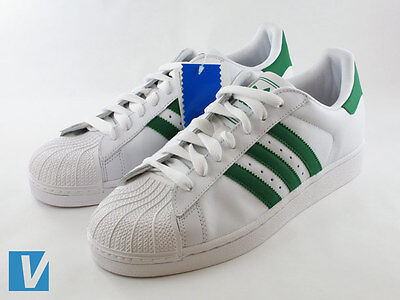 adidas superstar white/green-gold leather