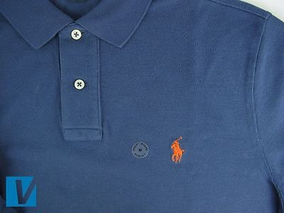 The Ralph Lauren Polo player logo is positioned perfectly upright with a  very clean finish. Logo sizes vary with styles.