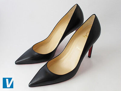 1d928c5cfb60 Christian Louboutin heels are packaged in a strong brown box that features  the  Christian Louboutin  logo and the word  Paris  below and toward the  right ...