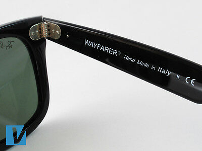 670368367a The inside right temple arm of Ray-Ban sunglasses feature the style name  followed by  Made in Italy . Also featured are the letters CE representing  European ...