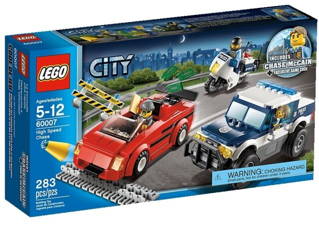 Lego City Town 60007 HIGH SPEED CHASE Motorcycle Police Minifigs NISB Xmas Gift
