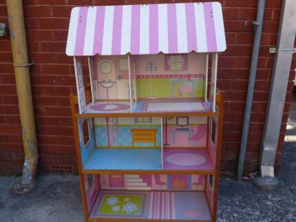 Dolls House wooden good condition 4 levels including attic