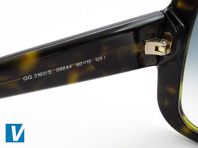85bfe00dbab The inside left temple arm of Gucci sunglasses feature a model number