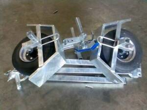 FOLDING GAL BOAT TRAILER SUITS UP TO 3.7 mt ALUMINIUM HULL 80 kg TARE Erina Gosford Area Preview