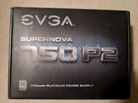 EVGA SuperNOVA 750 P2, 80+ PLATINUM 750W, Fully Modular, EVGA ECO Mode, Power Supply 220-P2-0750-X3