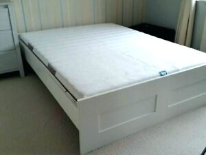 IKEA white bed frame full/double bed
