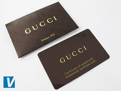 bb7cd56bd0f6 New Gucci sunglasses come with an authenticity card and envelope. The  reverse of the card features style and colour information. Check that any  details ...