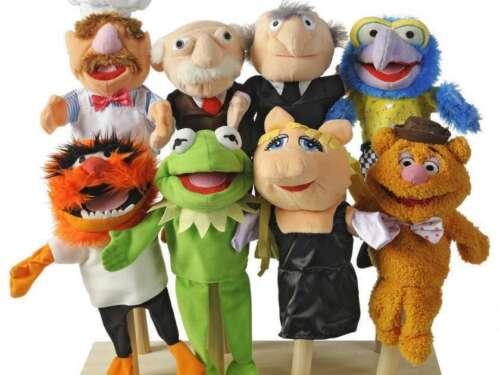 RARE MUPPETS Complet set of 8 Handpuppets Kermit Piggy Chef 10 inch near MINT
