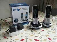 BT2600 twin digital cordless 'phones with answerphone