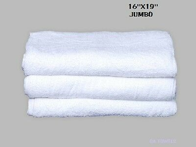 60 Terry Cloth Jumbo Cotton Cleaning Janitorial Towels Shop Bar Rags 16x19 32oz