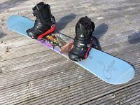 Complete Snowboard Kit - Elan Board - Burton Bindings - Vans Boots - Bag - Tool Kit - Cost £800 New