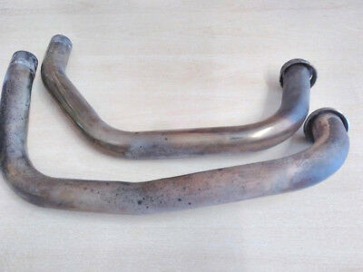 Stainless steel downpipes, exhaust headers for Kawasaki GPZ 500, EX 500