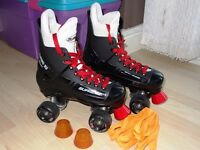 TURBO 33 SUPREME LIKE BAUER ROLLER SKATES QUAD SKATES