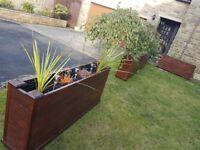 Handmade flower/vegetable planter boxes.
