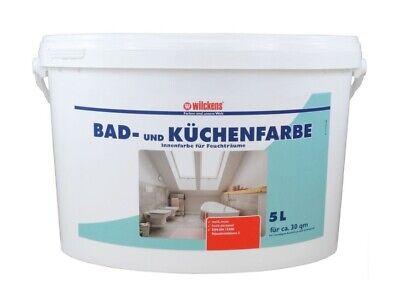 Wilckens Bad- und Küchenfarbe 5 L Farbe mit Schimmelschutz Feuchträume Weiß Matt