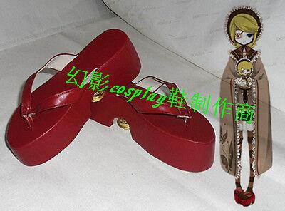 Vocaloid Kagamine Rin Miku Senbonzakura Halloween Red Thick Heels Cosplay Boots - Kagamine Rin Halloween