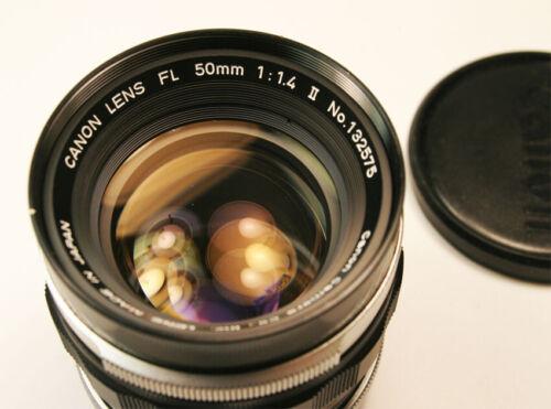 Canon FL 50mm f/1.4 II  Manual Focus Lens Super Clean
