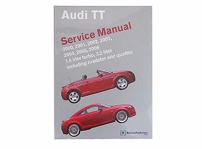 For Audi TT Quattro 2000-2006 Service Repair Manual Bentley AU 800 5006