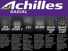 Discounted ACHILLES Tyres & WE COME TO YOU FREE to fit them Labrador Gold Coast City Preview