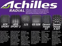 Discounted ACHILLES Tyres & WE COME TO YOU FREE to fit them Coomera Gold Coast North Preview