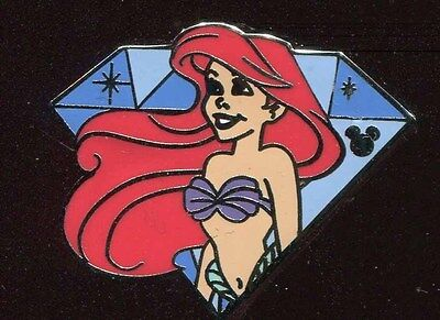 DLR 2015 Hidden Mickey Diamond Characters Ariel Disney Pin 112203