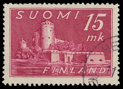 "FINLAND 247 (Mi317) - Savonlinna Castle ""Deep Lilac Rose"" (pf75497)"